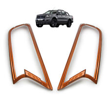 Head Lamp Light Cover Orange Trim For Ford Ranger T6 Pickup MC 2015 - 2017