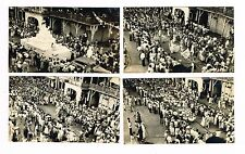 Lot A Of 4 Real Black & White Photos Carnival Panama 1951 or 52