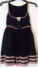 NEW Kate Moss Topshop Black Pink Beaded Dress 8