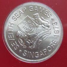 Singapore 1973 $5 SEAP Games UNC 0.5 Silver
