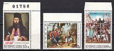 Cyprus - 1971 150 year war of independence - Mi. 362-64 MNH