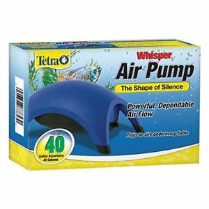 Tetra Whisper Air Pump 20 To 40 Gallons, For aquariums, Powerful Airflow..