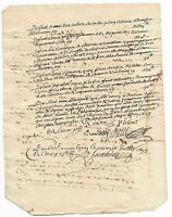 1697 LOUIS XIV royal notary signed manuscript Authentic original Ready to frame