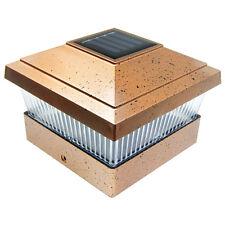 4 Copper Outdoor 5 x 5 Solar LED Post Deck Cap Square Fence Light Landscape