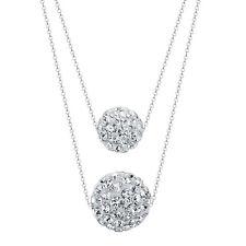 Shamballa Halskette 925er Sterling Silber Swarovski Elements Anhänger Zirkonia