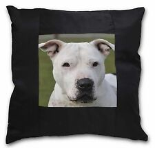 American Staffordshire Bull Terrier Dog Black Border Satin Feel Cus, AD-SBT5-CSB