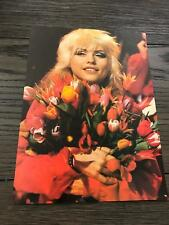 1979 Vintage Magazine Color Photo Clipping With Blondie Debbie Harry Deborah