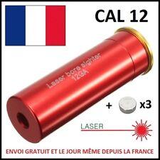 CARTOUCHE DE REGLAGE LASER POUR FUSIL CALIBRE CAL 12 GA LAZER CANON ALIGNEMENT