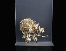 Tiffany & Co. 14k Yellow Gold Vintage Diamond Rose Brooch