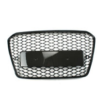 RS5 Style Gloss Black Honeycomb Radiator Bumper Grille For AUDI A5 S5 2012-2016