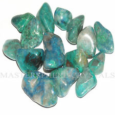 12 x Chrysocolla Tumblestones, 12mm-16mm Crystal Gemstone Wholesale Bulk