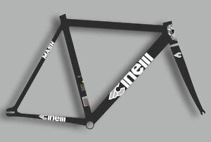 CINELLI MASH Bicycle Bike Frame Decal Sticker Adhesive Set Vinyl Sheet White