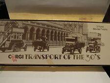 CORGI TRANSPORT OF THE 30'S - 3 FORD MODEL T VANS - SCARCE #3