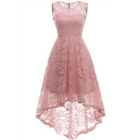 Women's Sheer Lace Hi-Lo Party Dress Cocktail Swing Semi-Formal Dresses