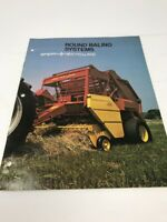 Vintage Sperry New Holland Round Hay Baling Systems Baler Farm Brochure Ad