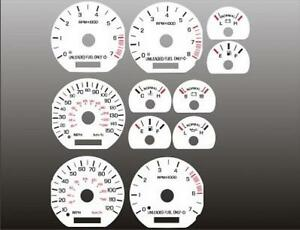 1994-1998 Ford Mustang white face gauges 94-98