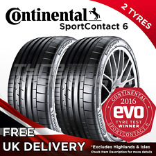 2x NEW 255 40 19 CONTINENTAL CONTISPORT CONTACT 6 100Y TYRE 255/40R19 A WET GRIP