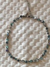 Women's Sorrelli Shades of Blue Crystal and Stone Necklace