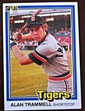 1981 DONRUSS ALAN TRAMMELL - DETROIT TIGERS SUPERSTAR - 37 YEARS OLD - HOFAMER!!