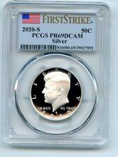2020 S 50C Silver Kennedy Half Dollar PCGS PR69DCAM First Strike