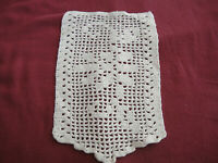 Vintage Filet Crochet Floral Pattern Doily Off White Incomplete Chair Set