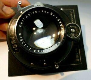 Carl Zeiss Tessar 13.5cm f3.5 Lens Compur Linhof III Munchen Technika Board