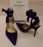 RUSSELL & BROMLEY & P.VERDI Suede Ankle Strap Pump Heels Court Size EU 38 UK 5