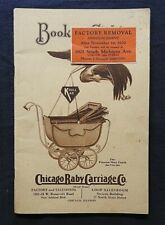 """1930 """"Chicago Baby Carriage Company"""" Wicker Buggy Catalog Pullman Sleeper KROLL"""
