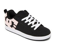 DC SHOES WOMENS COURT GRAFFIK TRAINERS.NEW BLACK PINK LEATHER SKATE SHOES W20 78