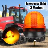 12-24V 60LED Flashing Strobe Beacon Emergency Warning Light Lamp Amber Car Truck