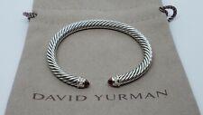 David Yurman Cable Classics Bracelet with Garnet and Diamonds 5mm size Small