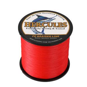 Braid Fishing Line 500M 547Yds 10-300LB Test Color Select Hercules PE 8S