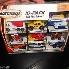 DIRT MACHINES 10 PACK GIFT SET MATCHBOX VOLKSWAGEN DESERT RESCUE BIKE BULL DOZER