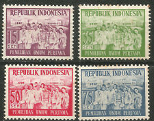 INDONESIA scott# 410-413 Serie Completa Nueva MNG Democracia