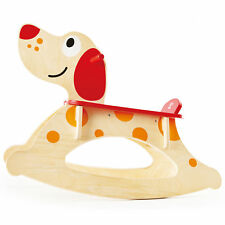 Hape Rock and Ride Kids Wooden Rocker Puppy Ride On Toy w/ Handles for Toddlers