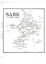 1981 Karte von Sark, Kanalinseln (+ alte Werbung auf Rückseite)