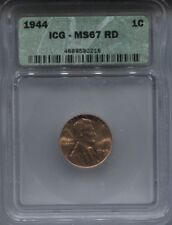 1944 ICG MS 67 RD WHEAT PENNY