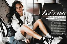 Zoe Kravitz 8 pg Teen Vogue Magazine Article (Includes Cover) March 2016