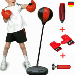 Kinder Boxset Boxsack Punchingball freistehend höhenverstellbar Standboxsack Kit