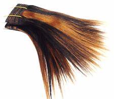 Extensiones de pelo Trenza del pelo real liso 20cm largo negro