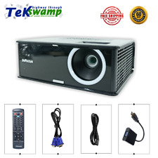 InFocus IN2112 DLP Projector 3000 ANSI 3D Ready HD 1080i HDMI-adapter bundle