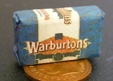1:12 Scale Sliced Warburton Loaf Wrapper Dolls House Kitchen Bread Accessory WB