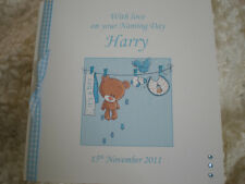 HANDMADE PERSONALISED NAMING DAY DEDICATION CHRISTENING BIRTH NEW BABY BOY CARD