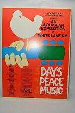 Woodstock Us Original Poster Dead Hendrix Joplin Airplane The Who And More