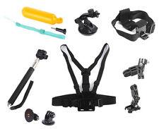 Zubehör Set Kit Saugnapf Adapter Brustgurt für Go pro Hero P10
