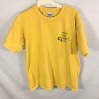 Mens Corona Extra T Shirt | Size Medium | Yellow Cancun Mexico Beer Souvineer