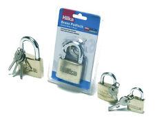 Hilka en laiton massif cadenas pro craft 50mm entièrement durci manille avec 3 clés