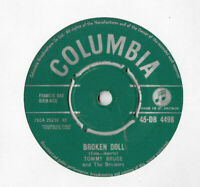 """TOMMY BRUCE * BROKEN DOLL * 7"""" SINGLE COLUMBIA 45-DB 4498 PLAYS GREAT"""