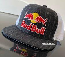 RED BULL ATHLETE ONLY HAT - 2020 PINSTRIPE TRUCKER - CAP - RARE - MONSTER