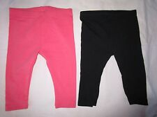 Girls 3-6mths Target leggings  Size 00 pink and black